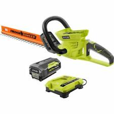 Ryobi 24 in. 40-Volt Lithium-ion Cordless Hedge Trimmer  w/ Battery & Charger