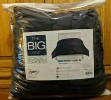The Big One Full Queen Down Alternative Comforter Reversible Blue Plaid