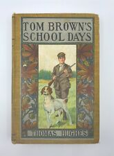 1900s Vtg Book Tom Brown's School Days Foxhound Gun Hunting Cover Illustration