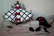 """8"""" Madame Alexander Black White Outfit tagged COSTUME PARTY with dog n mask"""