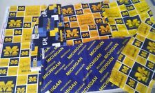 University of Michigan COTTON FABRIC Scraps