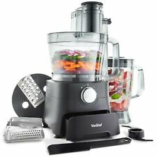 VonShef 1000W Food Processor Blender Chopper Juicer Dough Blade Shredder