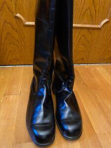 KNOBELBECHER JACK BOOTS SCHWARZ BLACK HIGH GLOSS LEATHER EU 30/45 US 11.5 UK10.5