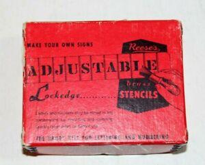 "Vintage REESE'S LOCKEDGE Adjustable 3"" BRASS STENCILS 1.5"" Number Set"
