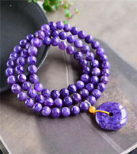 Genuine Natural Purple Charoite Gems Round Beads Woman Bracelets 8 MM AAAA 26*7