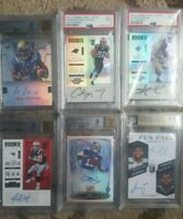 🔥🔥Football ROOKIE AUTO PACK Lot RC game used #'d (10) CARDS+GET FREE BGS PSA