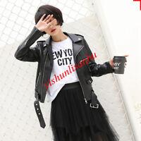 2018 Harajuku style leather short female student wild slim pu leather jacket