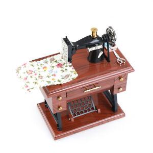 Musical Box Treadle Sartorius Toy Retro Decor Vintage Sewing Machine Useful B jb