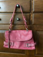Franco Sarto Pink Leather Purse Silver Hardware Preowned Inside Pockets