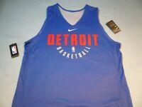Nike Detroit Pistons Practice XLT or 2XLT BRAND NEW Basketball Jersey NBA NWT