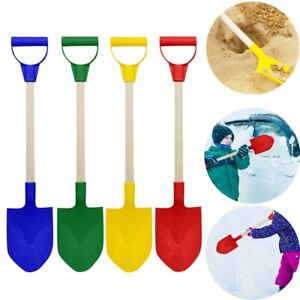 Schneeschieber Strandschaufel Schaufel Spielzeug  für Kinder Farbe Holzgriff