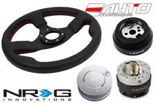 NRG 320mm Race L Steering Wheel Red St + 170H Hub 2.0 SL Quick Release Lock LS a