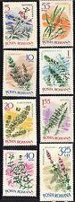 Romania 1966 Aquatic Plants Complete Set of Stamps MNH