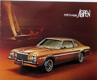 1978 Dodge Aspen Color Sales Brochure Original