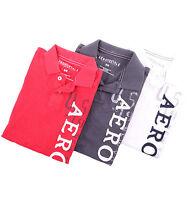 Aeropostale Men Solid AERO Logo Polo Shirt Style 7977 -$0 Shipping