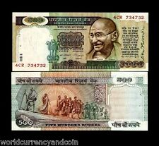 INDIA 500 RUPEES P87 C 1987 MAHATMA GANDHI UNC CR SIGN BILL WORLD MONEY BANKNOTE