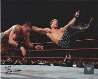 CHRIS JERICHO VS RANDY ORTON  WWE WRESTLING 8 X 10 LICENSED PHOTO NEW #462