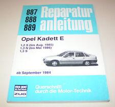 Manuale Riparazione Opel Kadett e 1,2 S /1,2 N/1,3 S BENZINER - AB 1984