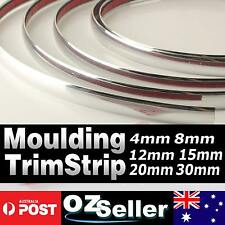 Moulding Trim Silver Chrome Strip Car Door Edge Window Bumper Grille 3 Meter 4mm