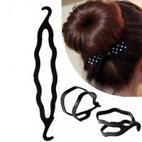 Balck Plastic Magic Easy Bun Hair Twist Braid Tool Holder Clip Hair Style Maker