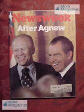 NEWSWEEK magazine October 22 1973 Oct 73 10/22/73 GERALD FORD SPIRO AGNEW ISRAEL