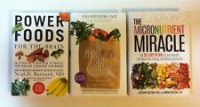 Lot 3 Health Food Nutrition Diet books HC Power Foods for Brain, PlantPlus Micro