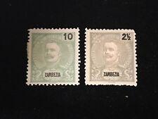 1898 Zambezia Postage Stamps, Unused, Lot of 2