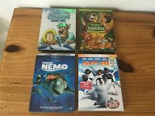 4 sets Dvds for Kids, Jungle Book, Finding Nemo, Happy Feet, Scooby-Doo