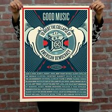Obey Giant Shepard Fairey Good Music to Avert the Collapse of Democracy Print