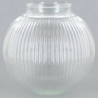 """6"""" CLEAR GLASS RIBBED BALL SHADE GLOBE 3 1/4"""" FITTER NEW GLBO6G"""