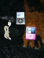 2 Apple iPod Nano 3rd Generation Black, 8Gb pink and cord