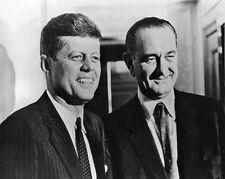 President JOHN F KENNEDY JFK & Vice LYNDON JOHNSON LBJ Glossy 8x10 Photo Poster