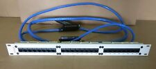 "AVAYA 24 PORT PATCH PANEL RJ45 Cat-5 700012909 19"" With 3 Data Cables Attached"
