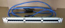 """AVAYA 24 Port Patch Panel RJ45 Cat-5 700012909 19"""" avec 3 câbles de Données ci-joint"""