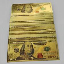 1pcs UNC 1:1 USD 100 dollar Gold Foil Golden Paper Money Banknotes Crafts