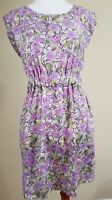 Womens The Impeccable Pig Dress Size M Purple Flower Paisley Print Lined  Skirt