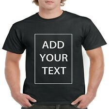 Custom Personalized Cotton T-Shirt -Your Own Text Christmas gifts