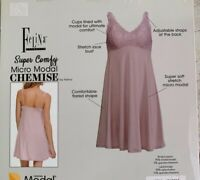 Felina Chemise Nightgown Nightie, Adjustable Strap, Pink or Gray, Soft, Comfy