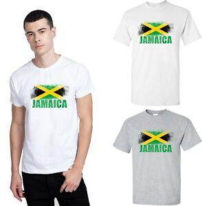 Jamaica Distressed Flag T-shirt Top Jamaican Shirt Sports Gift Adults Tee Top