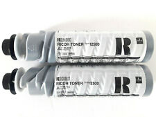 Lot 2 x RICOH Type 1250D 885258 Black Toner CARTOUCHE ORIGINAL GENUINE NEW