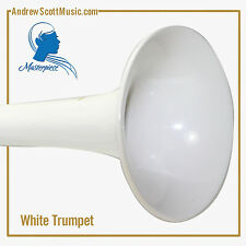 Trumpet - White & Silver - New with Case & Oil - Masterpiece - 12 Month Warranty