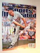 Sep 19 2011 Justin Verlander Detroit Tigers MVP SPORTS ILLUSTRATED NO LABEL SI