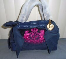 Juicy Couture Navy Velour w/ Pink Girls Ongoing Mini Daydreamer Tote $128 NWT