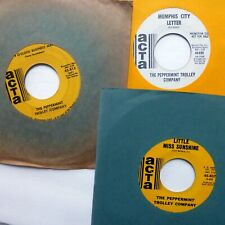PEPPERMINT TROLLEY COMPANY lot of 3x45rpm singles late 1960s psych   CtLot141