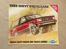 1983 Chey S-10 Blazer Catalog, Chevrolet Brochure