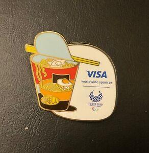 Tokyo 2020 Visa Paralympic noodles sponsor pin
