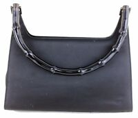 100% Authentic GUCCI black fabric small hobo shoulder bag Made in Italy