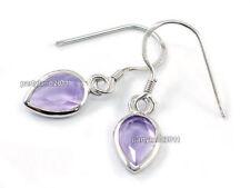 Pear Amethyst Fine Gemstone Earrings