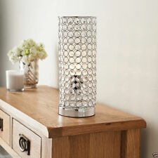 Vienna Table Lamp Crystal Modern Style Cylinder Light Bedside Living Room