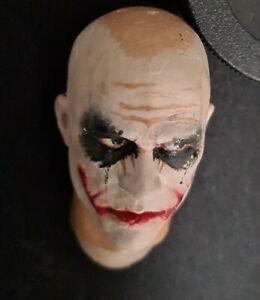 1/6 Creg Customs Batman Joker Head Sculpt Model for Hot Toys 12 inch figures